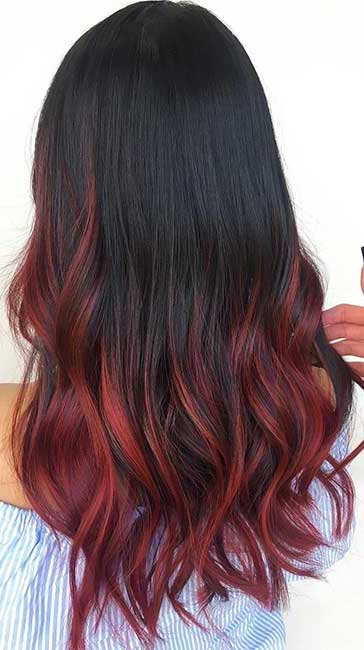 покрасить темные волосы