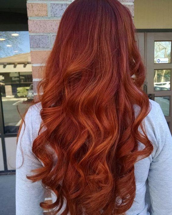 покрасить рыжие волосы